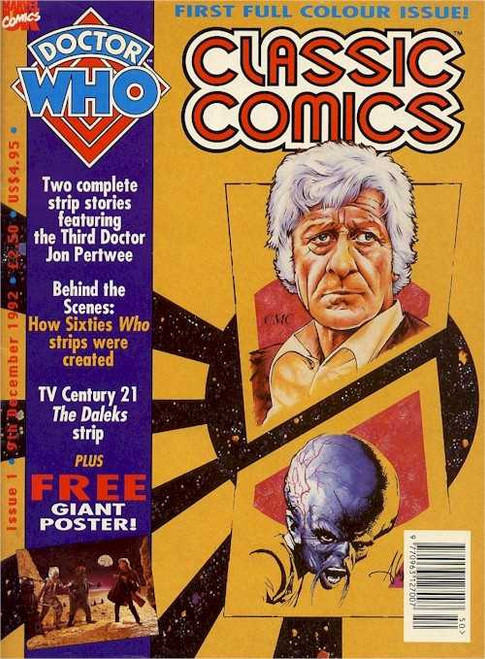 Doctor Who Classic Comics Issue #1 by Marvel (Magazine sized)