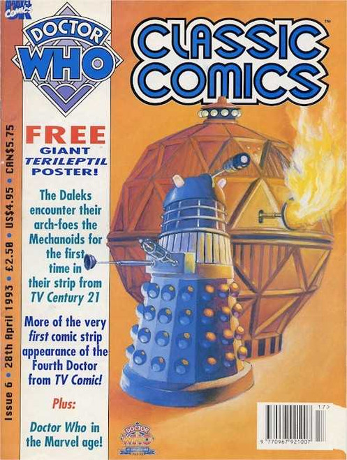 Doctor Who Classic Comics Issue #6 by Marvel (Magazine sized)