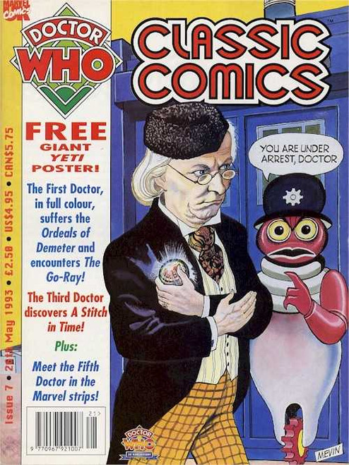 Doctor Who Classic Comics Issue #7 by Marvel (Magazine sized)