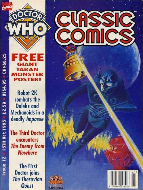 Doctor Who Classic Comics Issue #12 by Marvel (Magazine sized)
