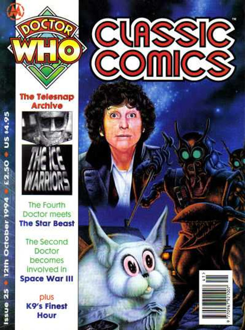 Doctor Who Classic Comics Issue #25 by Marvel (Magazine sized)
