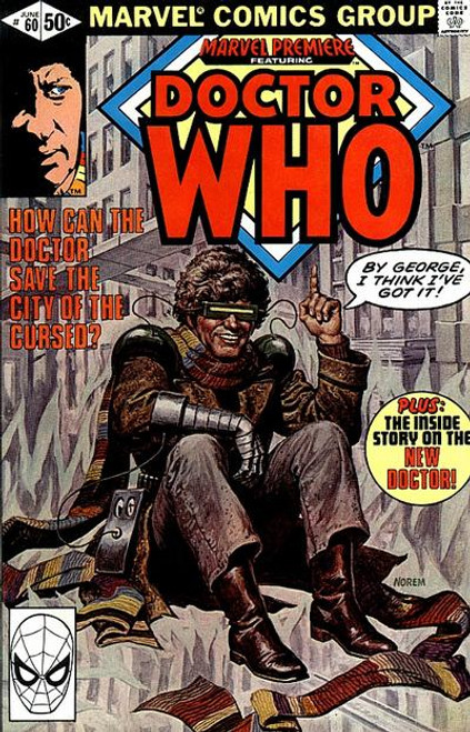 Doctor Who Marvel Premiere Comics #60 (Fourth Doctor Who appearance in US Comics from 1981)