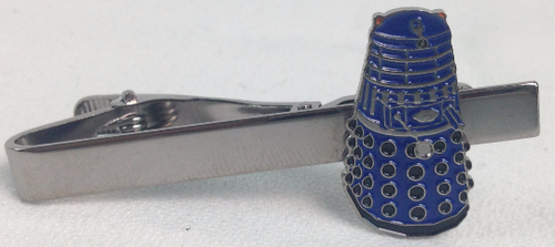Doctor Who Tie Clip - BLUE DALEK