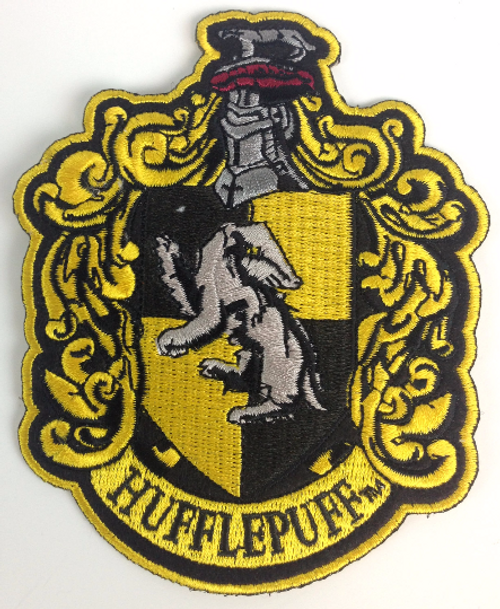Harry Potter: House of HUFFLEPUFF - Full Size Iron On Patch