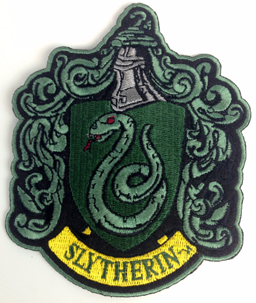 Harry Potter: House of SLITHERIN - Full Size Iron On Patch