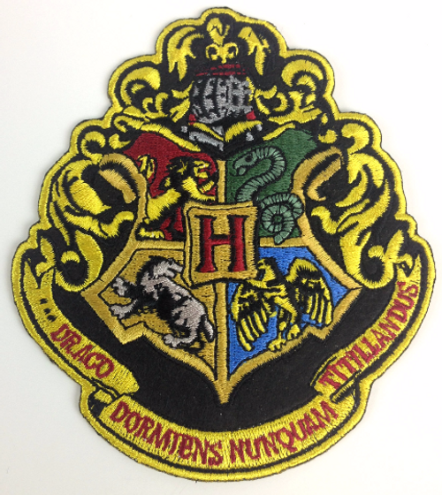 Harry Potter: HOGWARTS School Crest - Full Size Iron On Patch