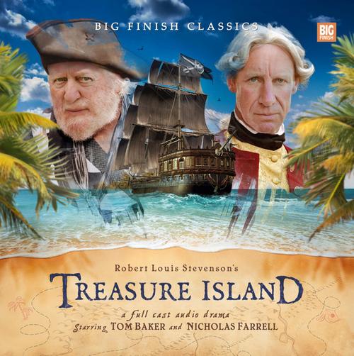 TREASURE ISLAND - Big Finish Classics Audio CD Set Starring Tom Baker