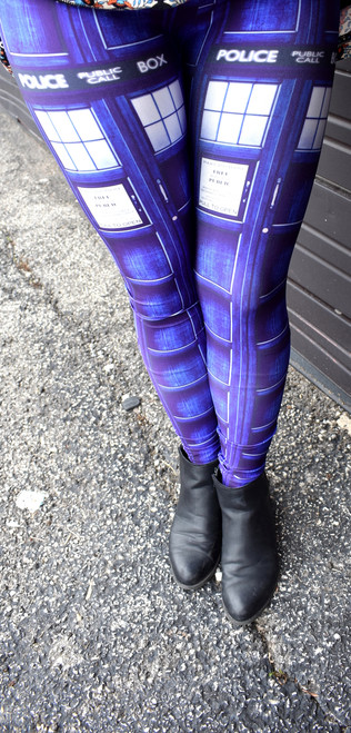 "Doctor Who: TARDIS Panel ""Blue Box"" Leggings"