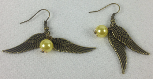Harry Potter: GOLDEN SNITCH Dangle Earrings