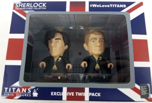 BBC SHERLOCK - Sherlock Holmes and Doctor Watson - Wedding Day - Titan Vinyl Figure Set - Entertainment Earth Exclusive