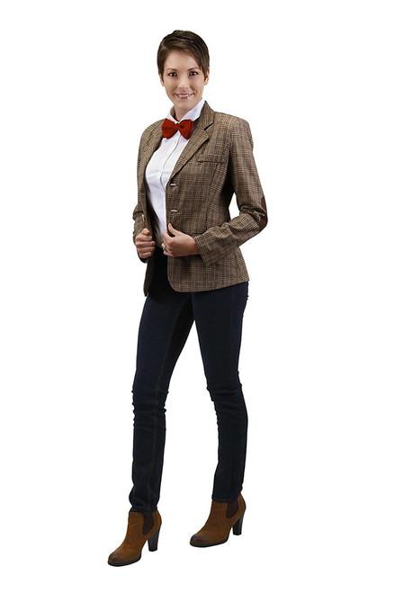 Doctor Who: Eleventh Doctor (Matt Smith) Women's Jacket  (Plus a FREE BOW TIE & FEZ Hat)