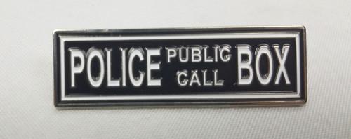 """Police Public Call Box"" Marquee Enamel Pin"