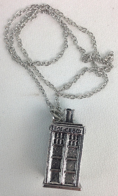 Doctor Who: TARDIS 3D - Silver Pendant Necklace