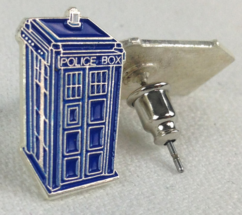 Doctor Who: TARDIS Metal Post Earrings