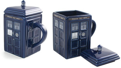 TARDIS Figural Ceramic Mug With Lid