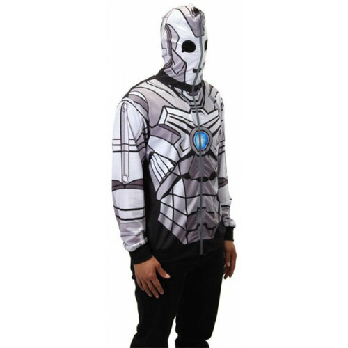 Doctor Who: CYBERMAN Zip-Up Unisex Costume Hoodie (Choose Your Size)