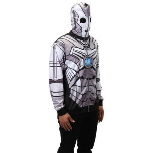 Cyberman Zip-Up Unisex Costume Hoodie