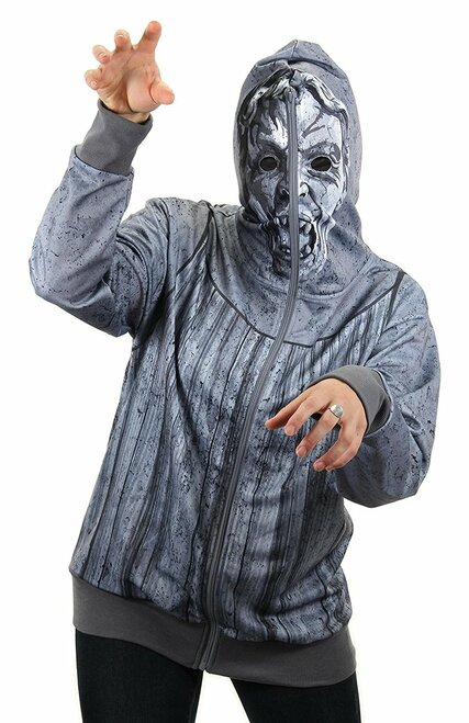 Doctor Who: WEEPING ANGEL Zip-Up Unisex Costume Hoodie (Choose Your Size)