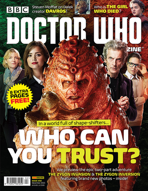 Doctor Who Magazine #492 - Who Can You Trust? ZYGONS!