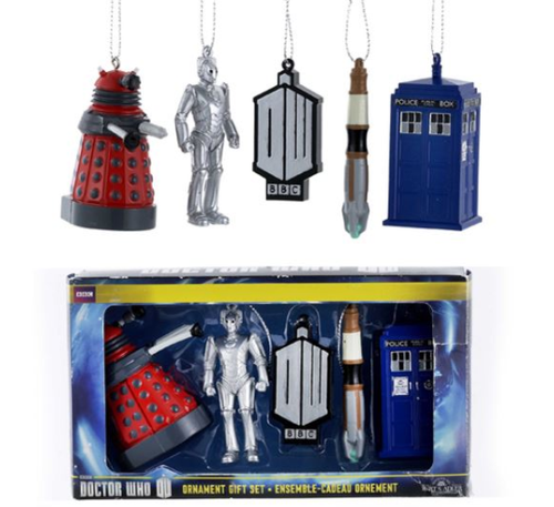 Doctor Who Miniature Christmas Ornaments - 5-Piece Boxed Set by Kurt Adler