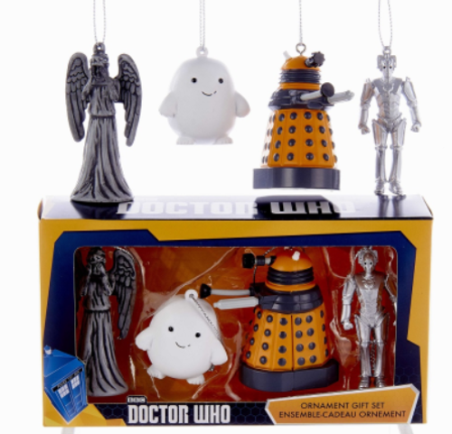 Doctor Who Miniature Christmas Ornaments - 4-Piece Boxed Set by Kurt Adler