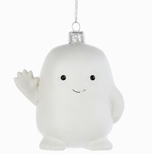 Doctor Who Adipose Glass Christmas Ornament by Kurt Adler