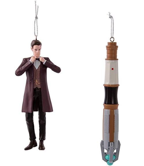 Kurt Adler Doctor Who 11th Doctor/Sonic Screwdriver Christmas Ornaments - Set of 2