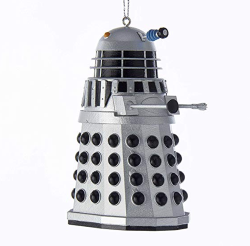 Kurt Adler 3.5-Inch Doctor Who Silver Warrior Dalek Christmas Ornament