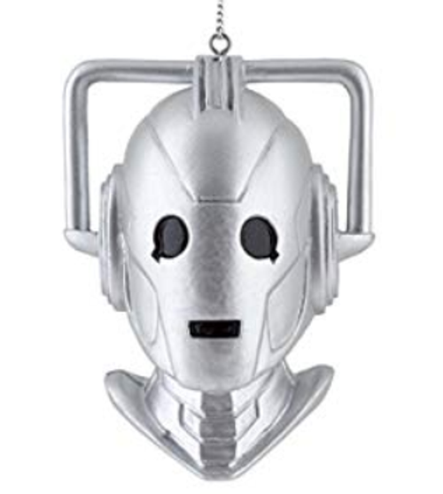 Doctor Who Cyberman Bust Head Christmas Ornament