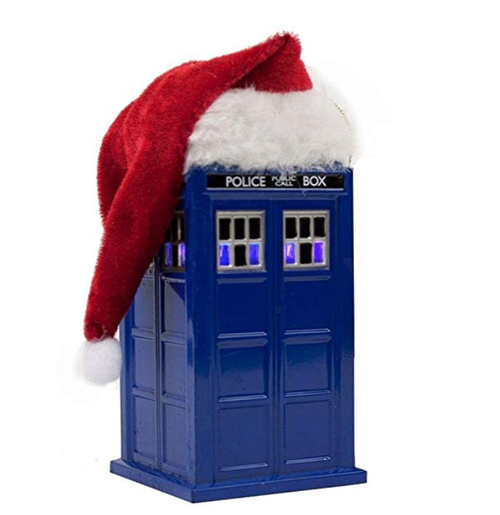 Kurt Adler 4.5-Inch Doctor Who TARDIS with LED Light and Santa Hat