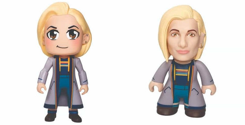 Doctor Who SDCC 2018 Kawaii and Titan Vinyl 6.5 inch Thirteenth Doctor Figure Set of 2