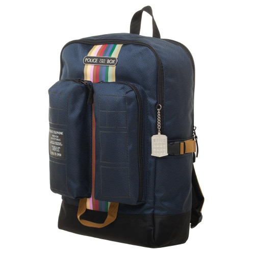 Doctor Who TARDIS Thirteenth Doctor TARDIS Large Double Pocket Laptop Backpack