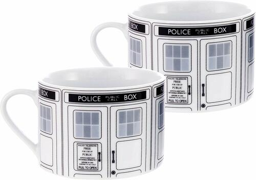 Doctor Who TARDIS Ceramic Tea Cup Set (2 Tea Cups)