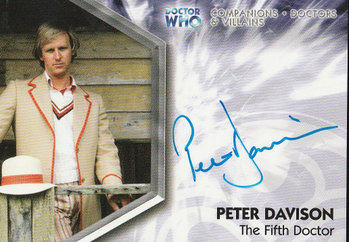 Doctor Who: TRILOGY Autograph Trading Card:  DWT-A1 - PETER DAVISON as the Fifth (5th) Doctor