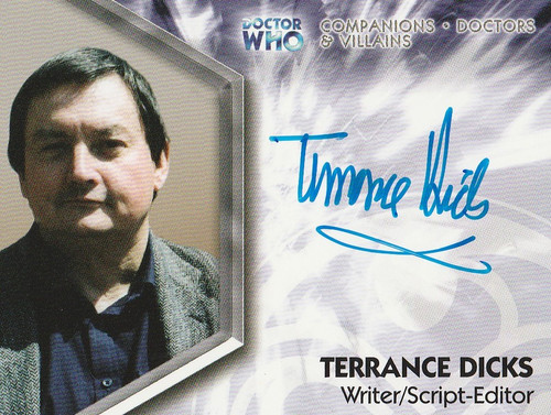 Doctor Who: TRILOGY Autograph Trading Card: DWT-A7 - TERRANCE DICKS (Writer & Script Editor)
