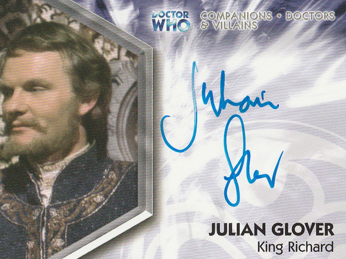 Doctor Who: TRILOGY Autograph Trading Card: DWT-A8 - JULIAN GLOVER as King Richard