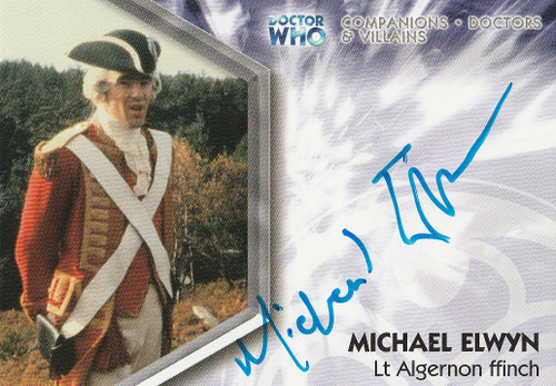 Doctor Who: TRILOGY Autograph Trading Card: DWT-A9 - MICHAEL ELWYN as Lt. Algernon ffinch