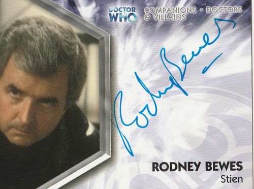 Doctor Who: TRILOGY Autograph Trading Card: DWT-A11 - RODNEY BEWES as Stien