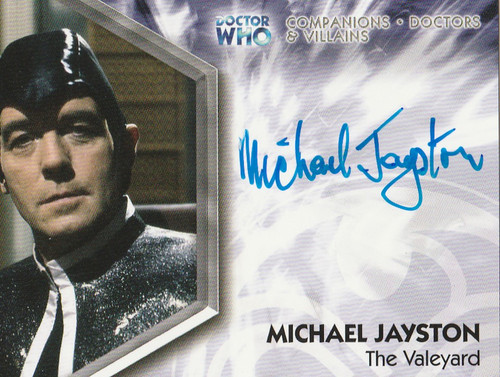 Doctor Who: TRILOGY Autograph Trading Card: DWT-A12 - MICHAEL JAYSTON as The Valeyard