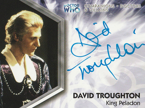 Doctor Who: TRILOGY Autograph Trading Card: DWT-A14 - DAVID TROUGHTON as King Peladon