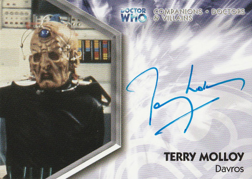 Doctor Who: TRILOGY Autograph Trading Card: DWT-A16 - TERRY MOLLOY as Davros