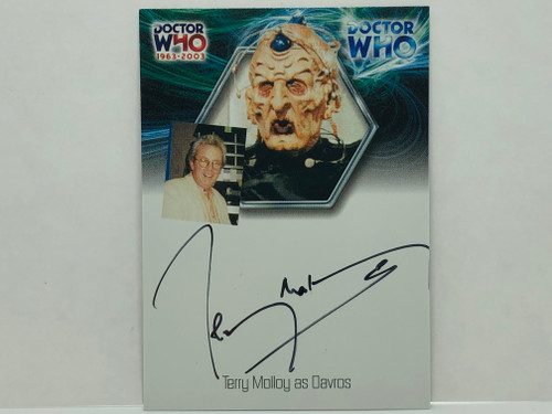 Doctor Who: 40th ANNIVERSARY Autograph Trading Card: WA10 - TERRY MOLLOY as Davros