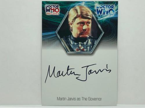 Doctor Who: 40th ANNIVERSARY Autograph Trading Card: WA13 - MARTIN JARVIS as The Govenor