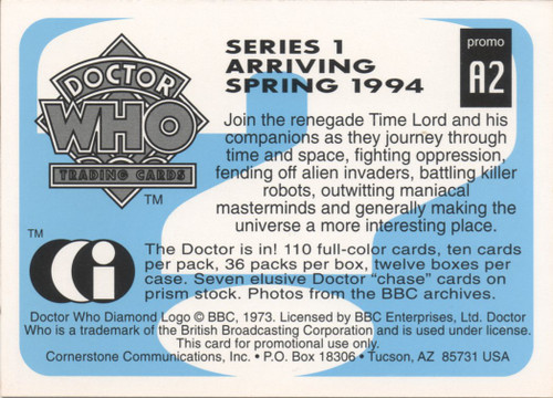Doctor Who: Cornerstone Series 1 Trading Card PROMO - A2