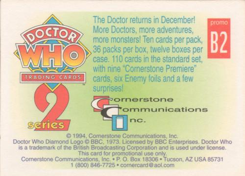 Doctor Who: Cornerstone Series 2 Trading Card PROMO - B2