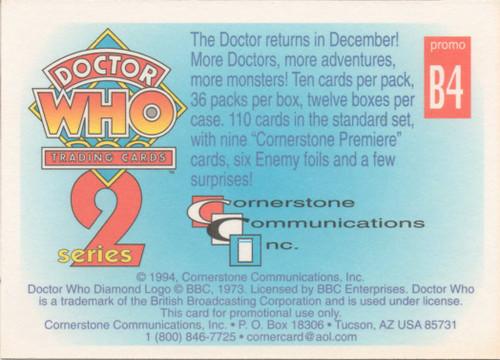 Doctor Who: Cornerstone Series 2 Trading Card PROMO - B4
