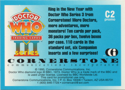 Doctor Who: Cornerstone Series 3 Trading Card PROMO - C2