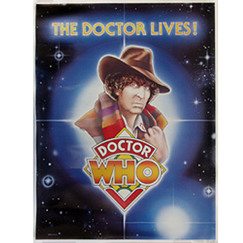 Doctor Who: 4th Doctor - Tom Baker - Vintage Spirit of Light  Poster from 1983
