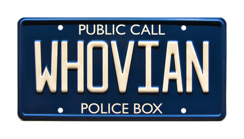 "DOCTOR WHO - ""WHOVIAN"" - Full Size Metal Stamped License Plate"