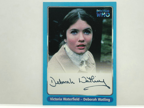 Doctor Who: SERIES 1 Autograph Trading Card: A7 - DEBORAH WATLING as Victoria Waterfield